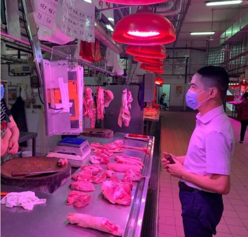 【豬肉價格】李良汪促強化街市秩序管理