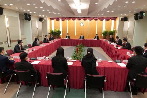 民众建澳聯盟訪行政長官賀一誠 提十三項施政意見及建議